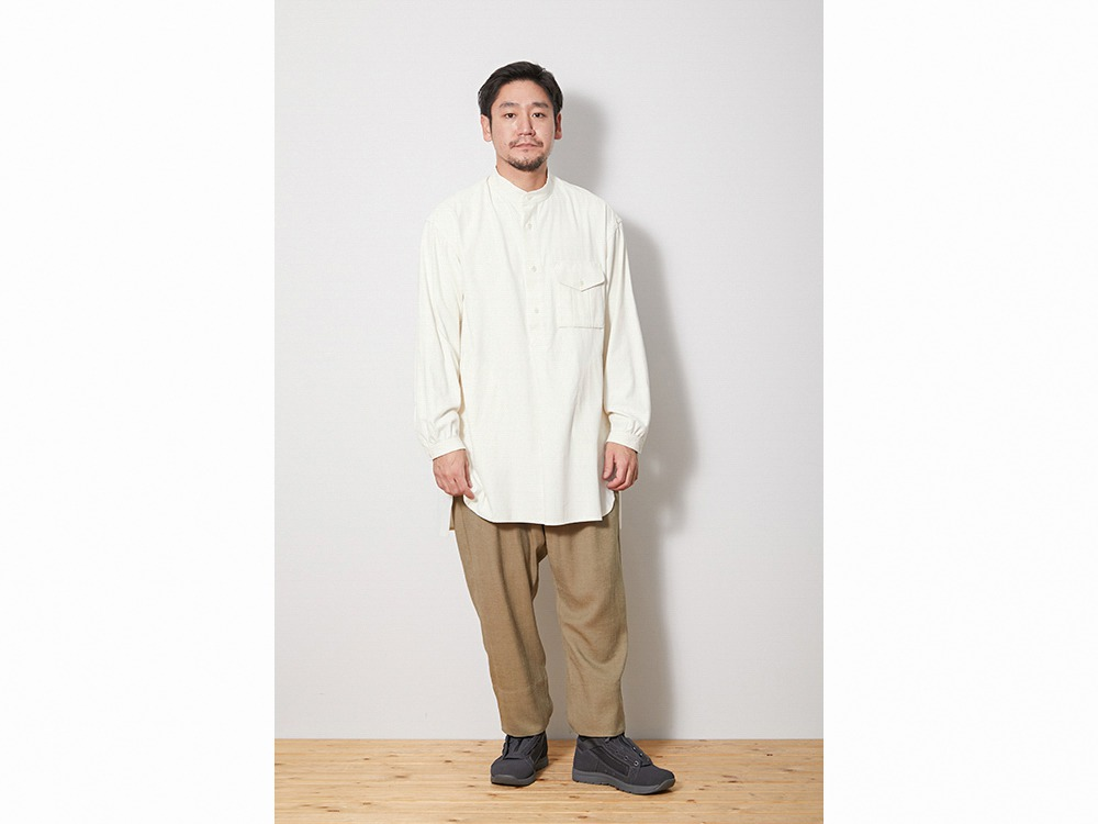 TAKIBI Long Shirt L Ecru