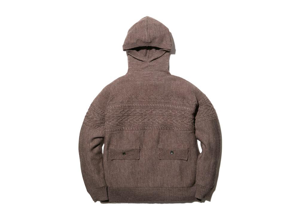 Shetland Guernsey Knit Parka L BR