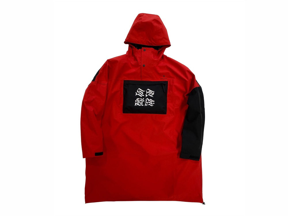 GEZAN Packable Rain Poncho One Red