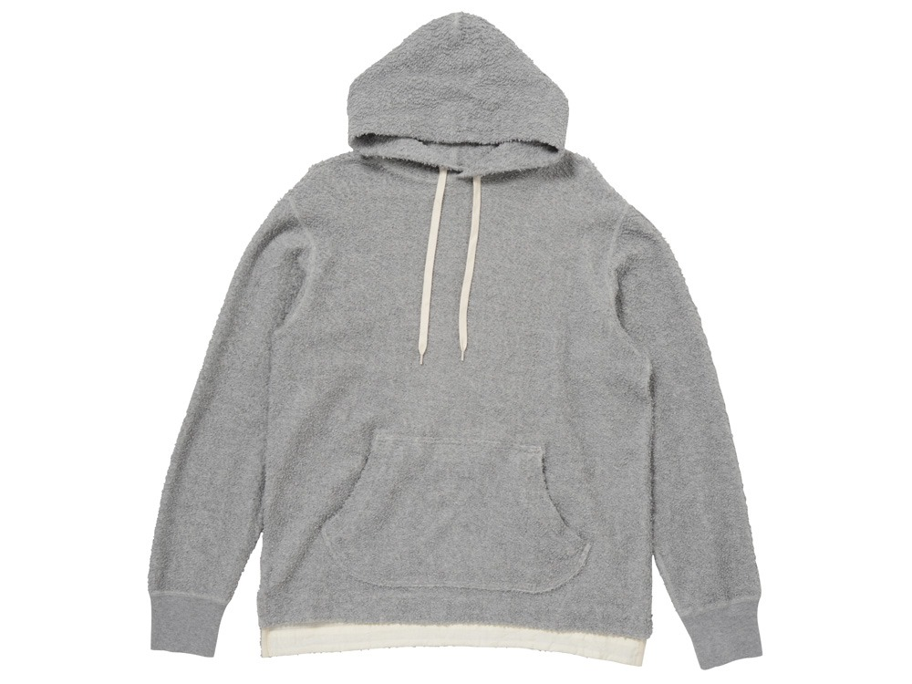 Long Loop Sweat Hoodie M Grey0