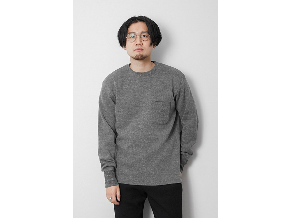 Li/W/Pe Crewneck Long Sleeve M Grey