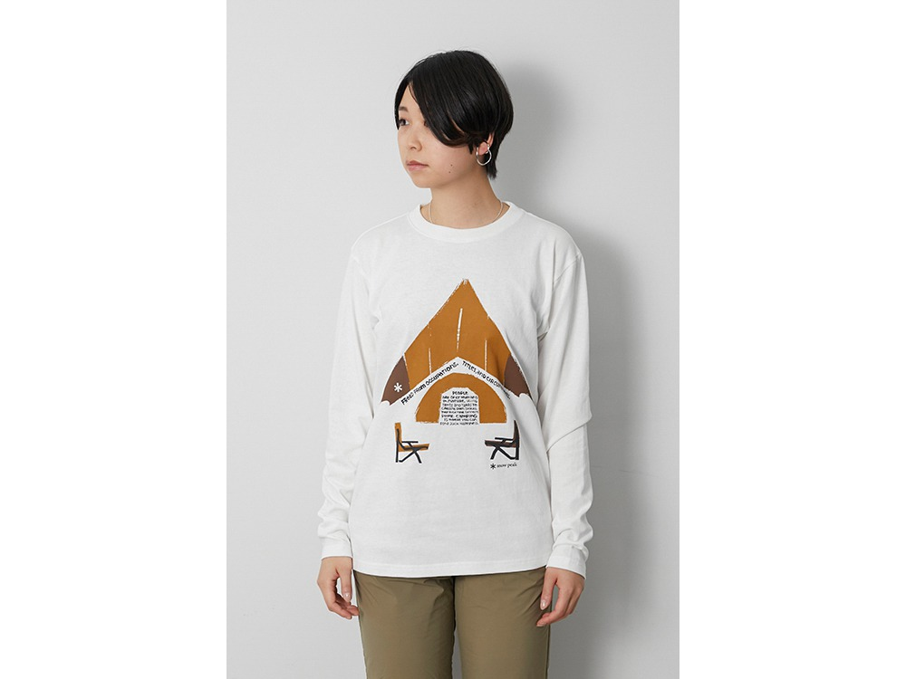 Relaxed Camping L/S Tee 1 White