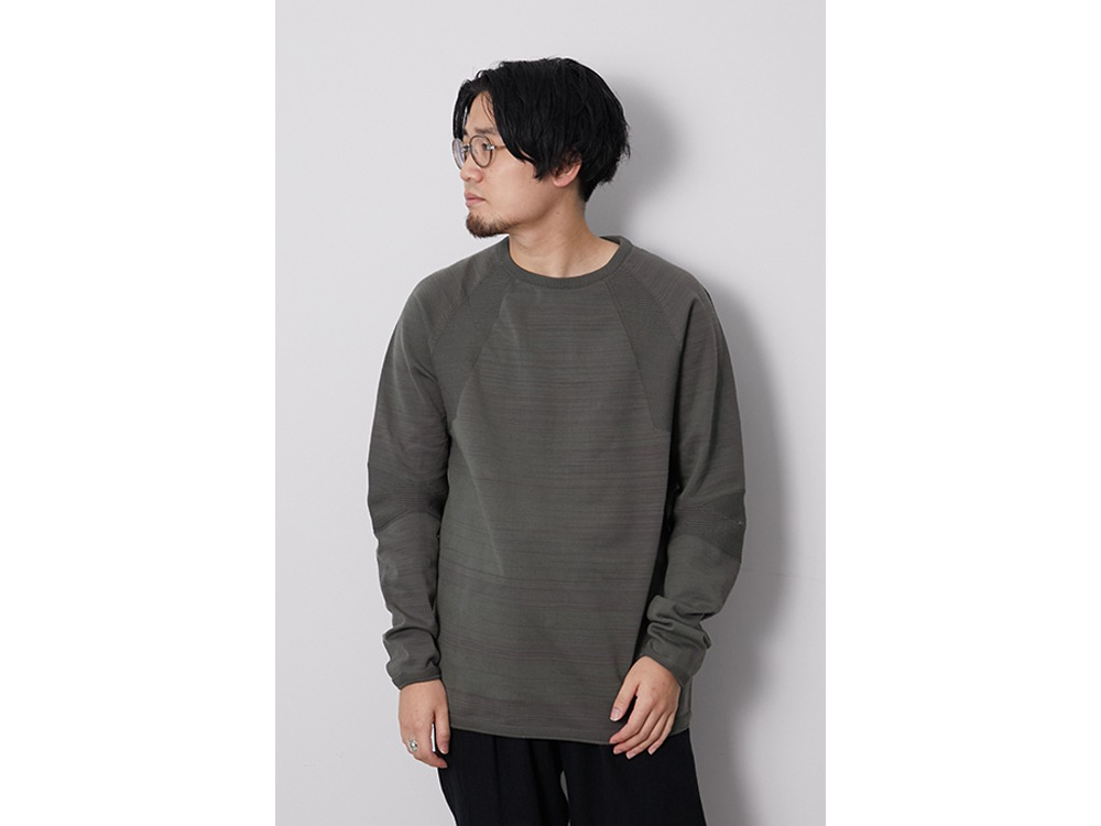WG Stretch Knit L/S Pullover XL Khaki