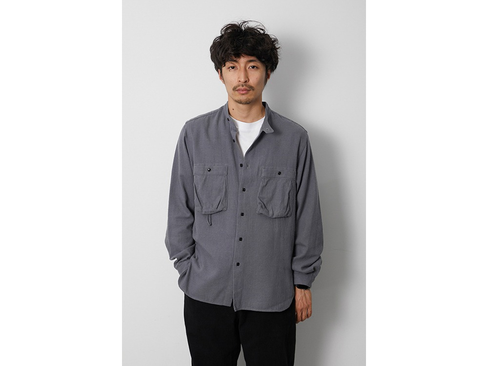 Cotton Silk Serge Shirt M Ecru