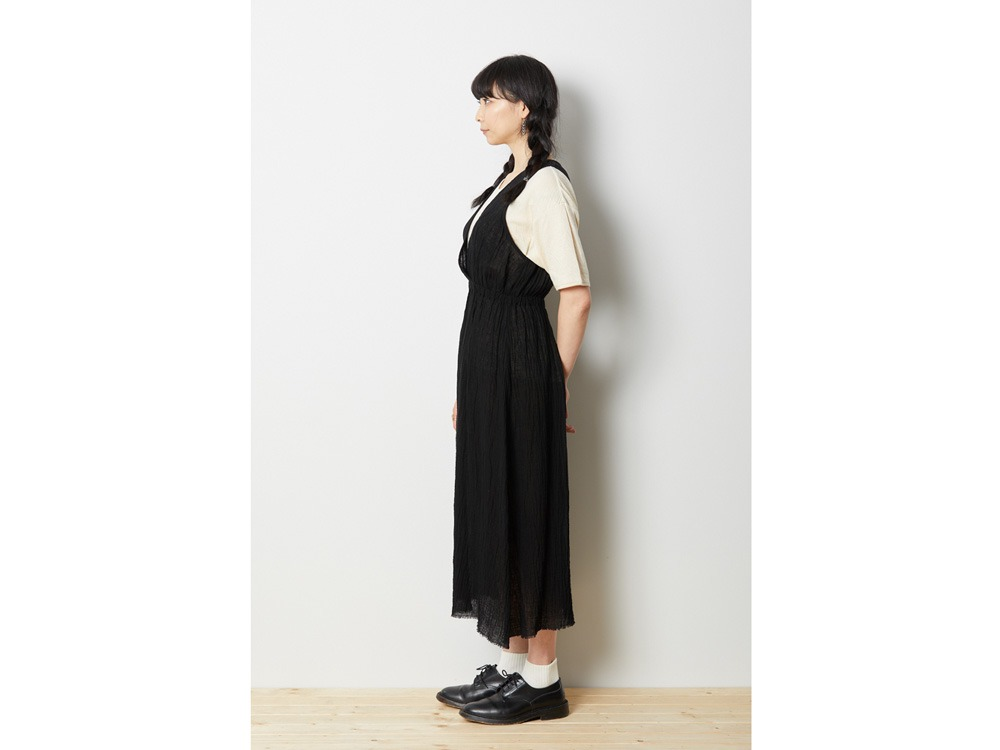 ウォッシュドリネン ドレス 4 ブラック