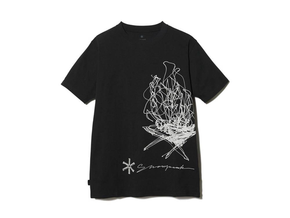 TAKIBI Graphic Tee S Black
