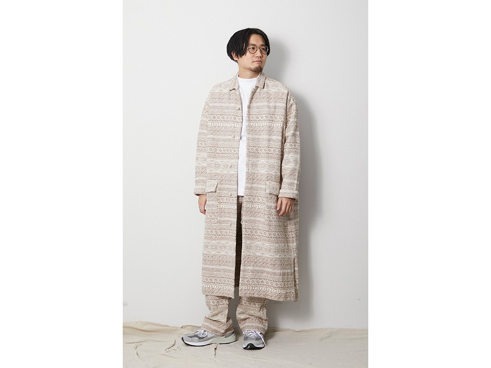 Cotton Silk Jacquard Coat 1 Ecru