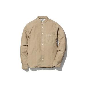 オーガニックコットンスタンドカラーシャツ
