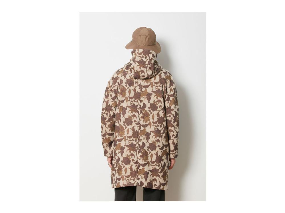 Printed Wo/Ny Coat XL Beige