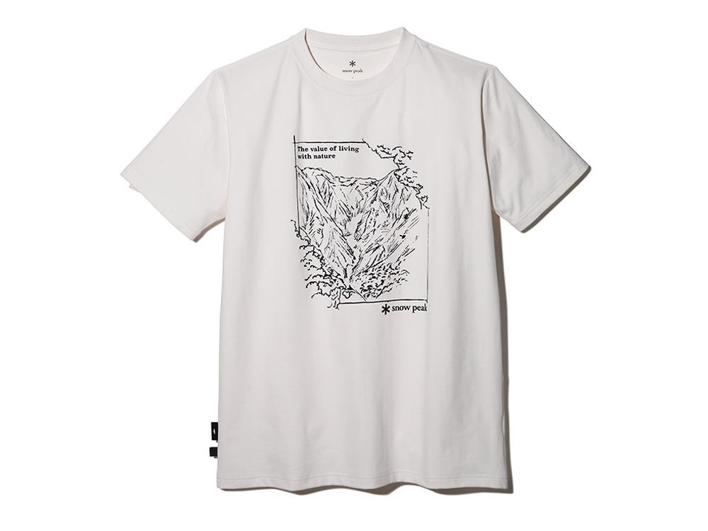 【予約受付中】Graphic Tshirt Mt.Tanigawa M Ivory