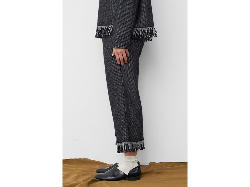 Fringe Knit Pants 1 Brown