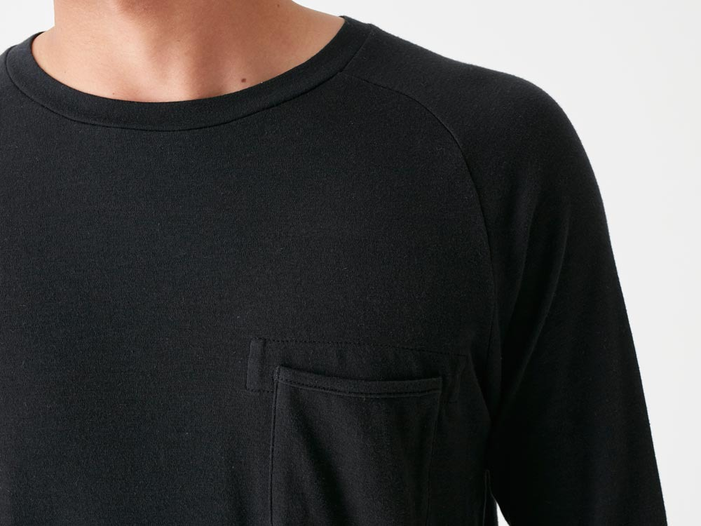 Bare Organic Smooth Raglan M Black4