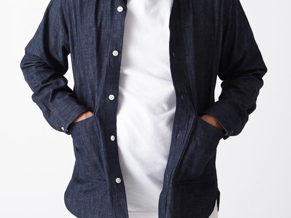 Dungaree Field Shirt  M Indigo6