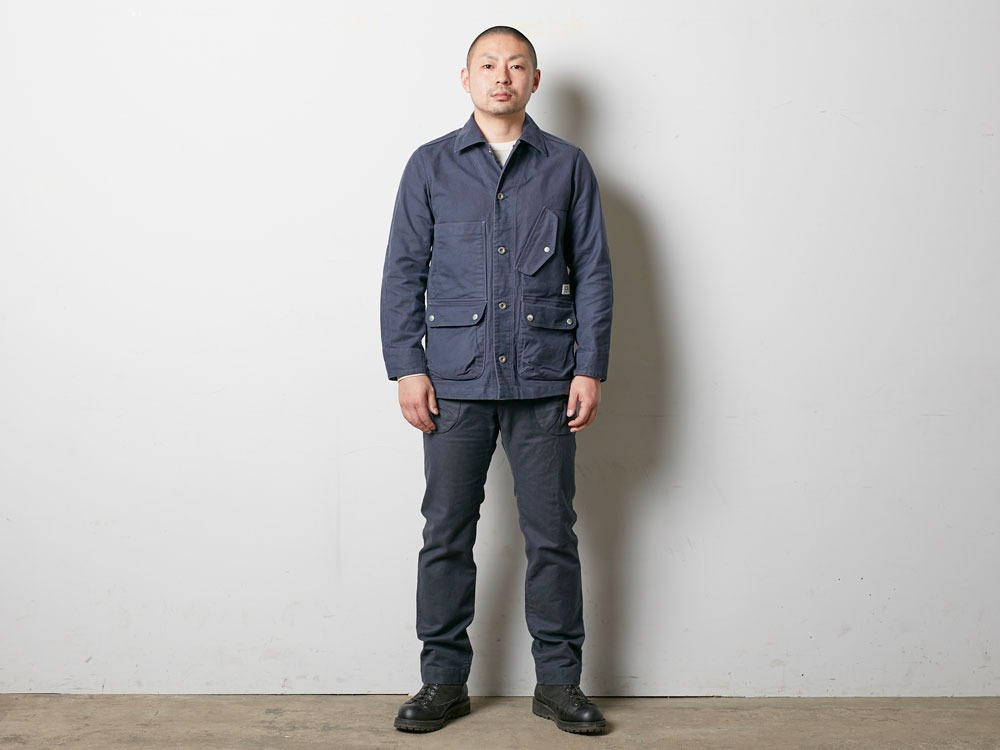 TAKIBI Coverall Jacket 2 Navy2