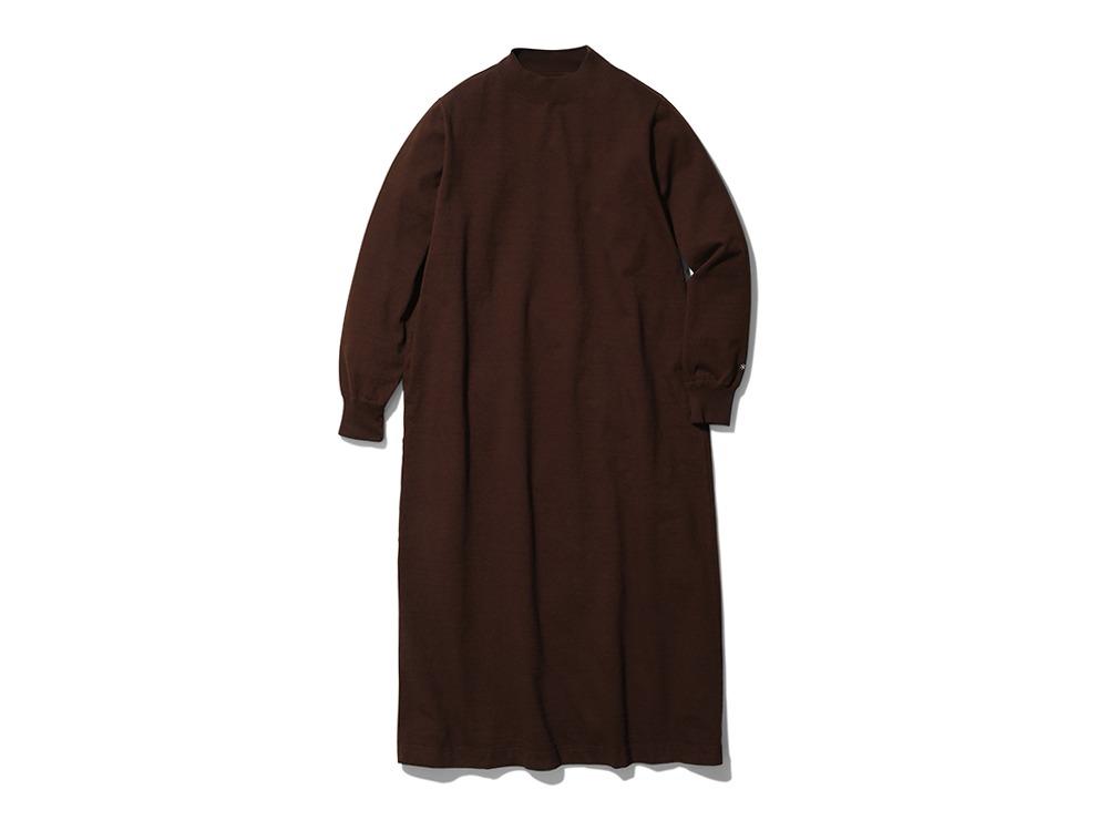Heavy Cotton L/S Dress 1 Brown
