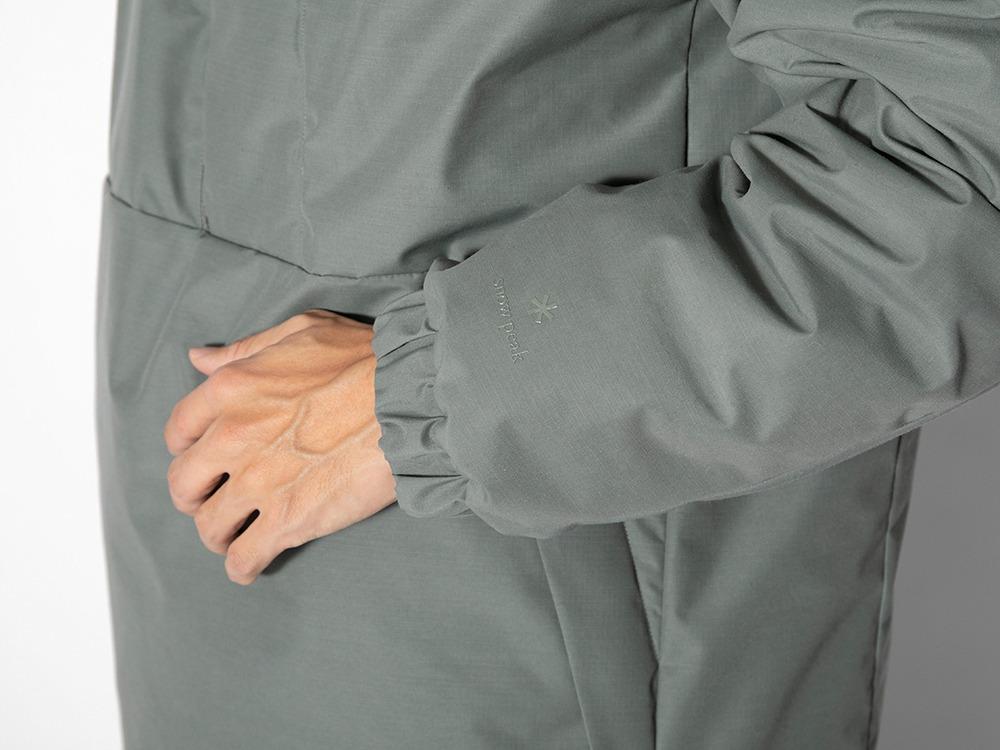 FR 2L Down Long Pullover M Greykhaki