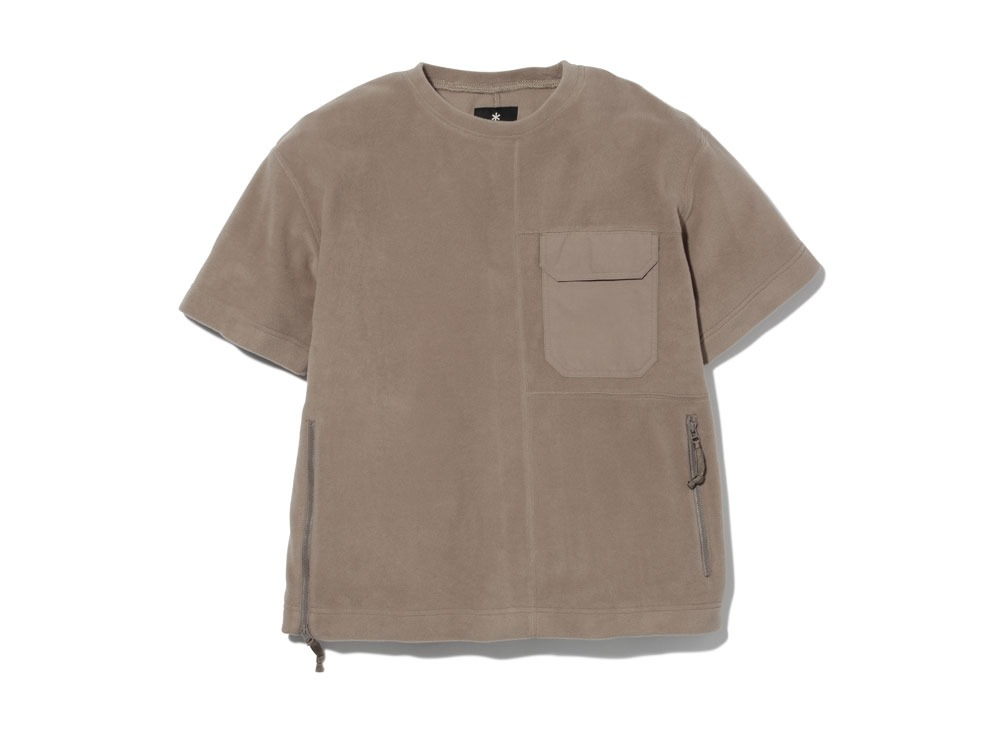 R/Pe Fleece Tshirt1Brown