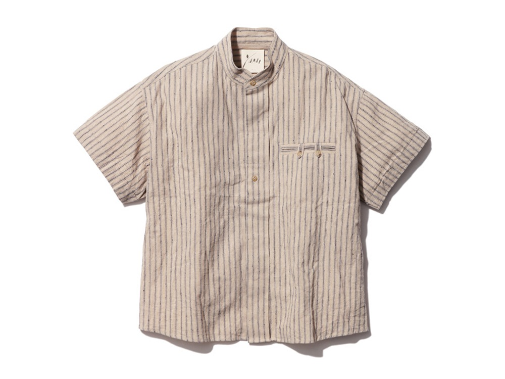C/L Stripe Shirt 2 Ecru
