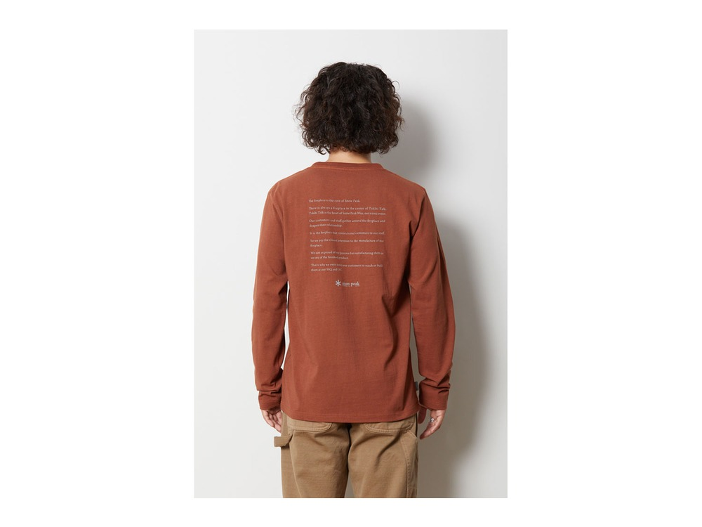 Fireplace ロングスリーブ Tシャツ 1 Orange