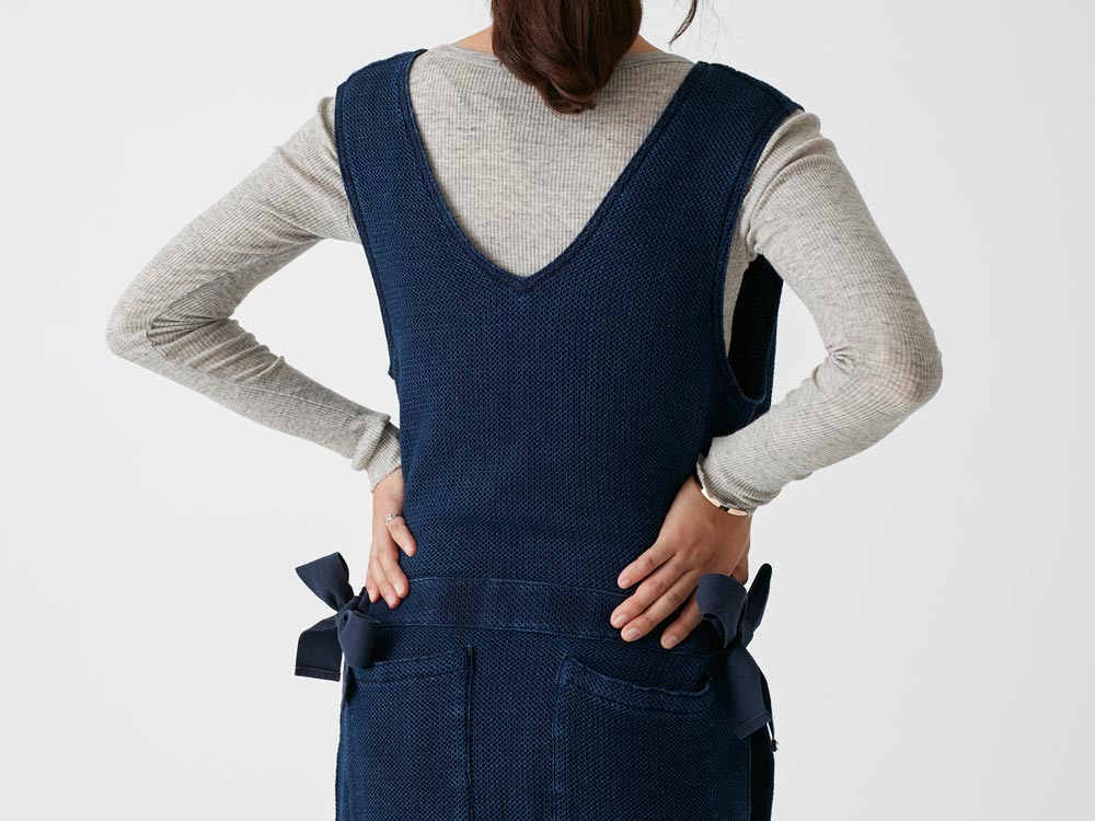 Dobby Denim Dress 4 Ecru9