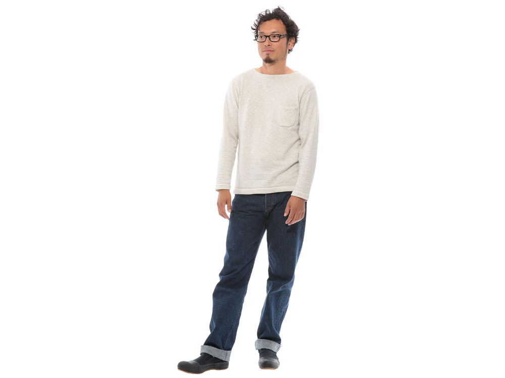 Cashmere Relaxin' Sweat Pullover L Oatmeal1