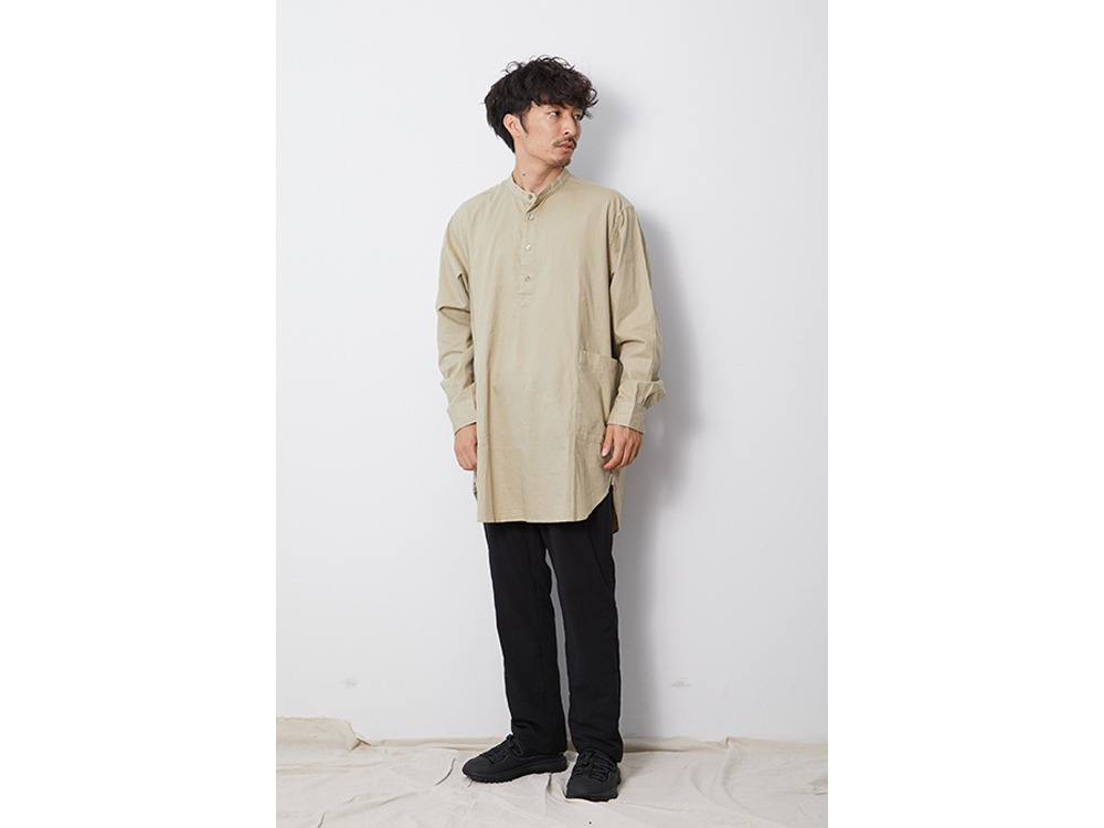 OG Cotton Poplin Sleeping Shirt M Beige