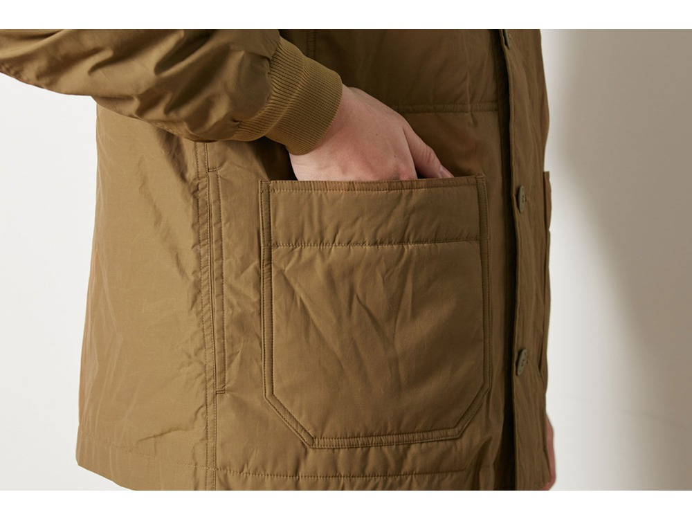 Waxed C/N Down Jacket S Brown