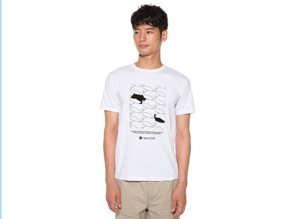 Natural Trompe I'oeil Tshirt L White2