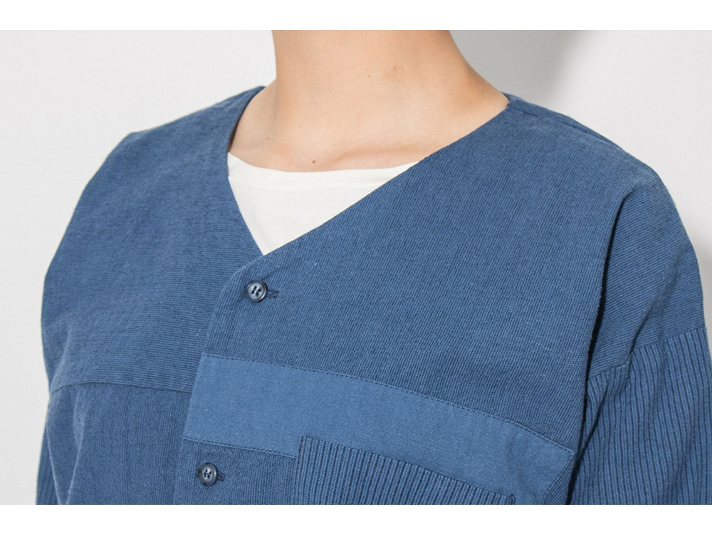 昔のワークシャツ(JIBAN)  M Blue