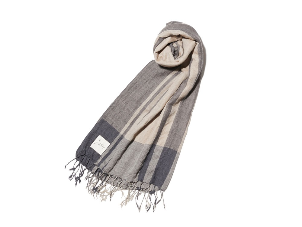 Wool Silk Striped Stole one BC