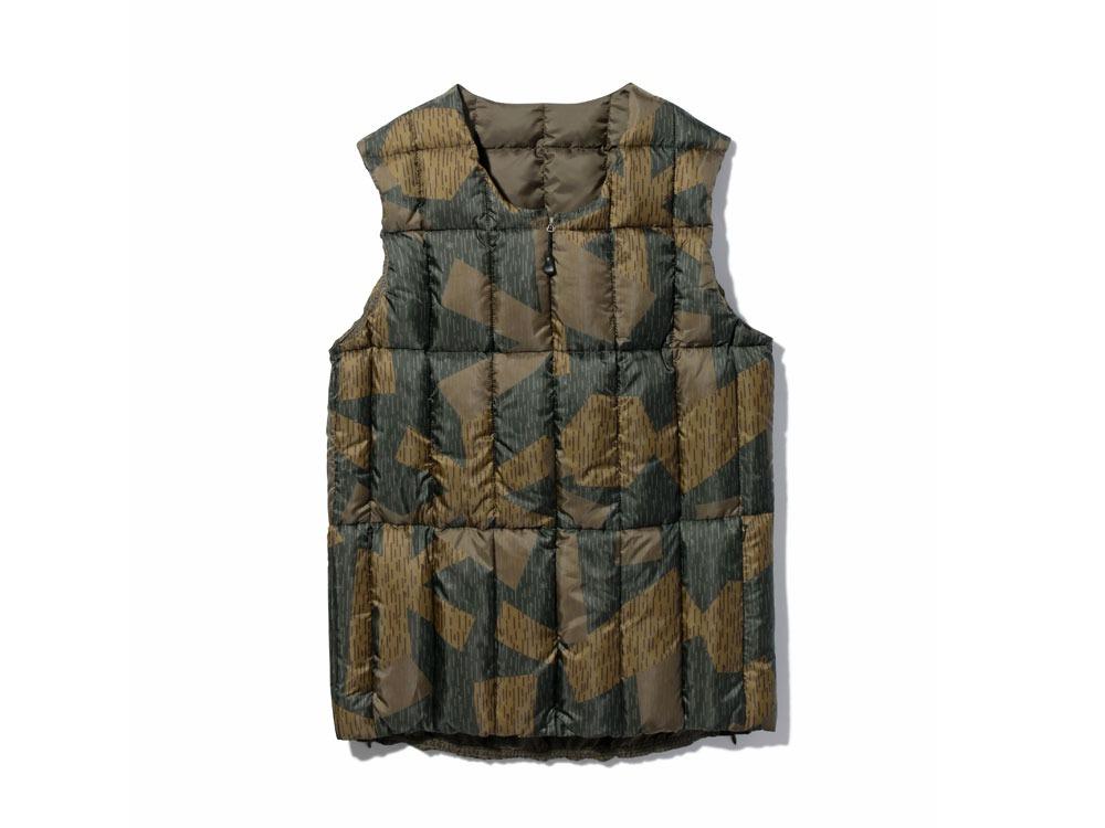 Printed Inner Down Vest 1 Olive0