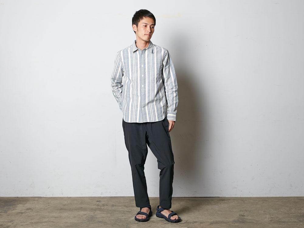 OrganicStripedShirt XL Navy1