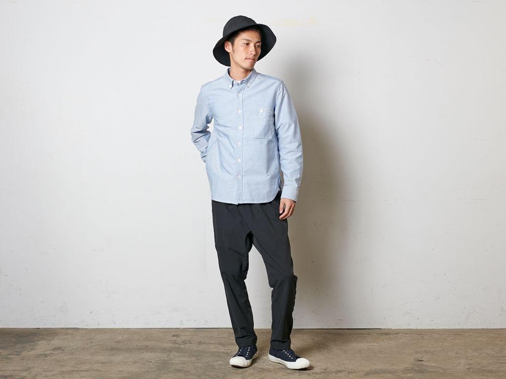 オーガニックオックスシャツ  L ホワイト