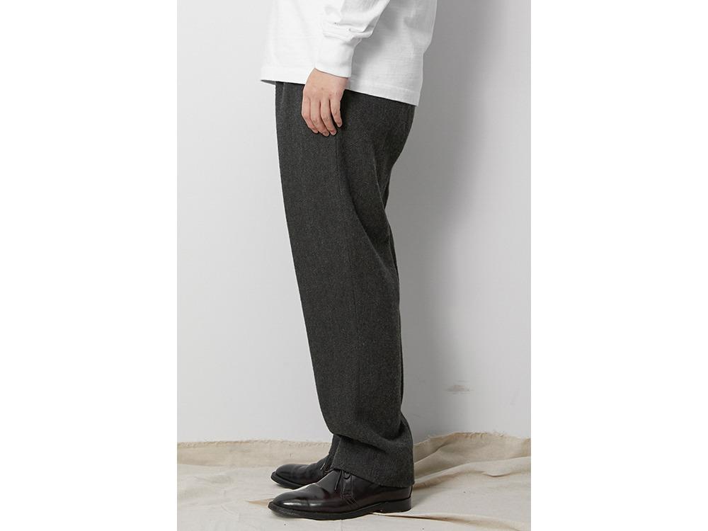 Wo/Li Herringbone Tweed Pants L Beige