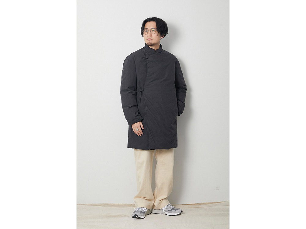 Indigo C/N Down Coat L Black