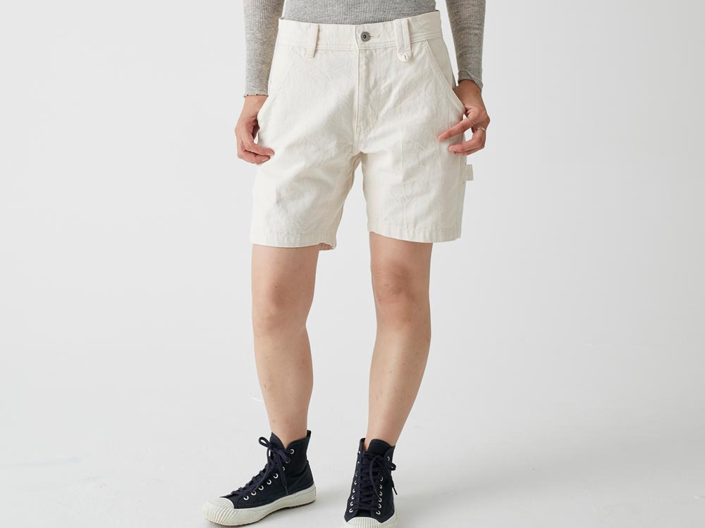 Okayama OX Shorts 2 Ecru1