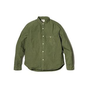 オーガニックコットン スタンドカラー シャツ