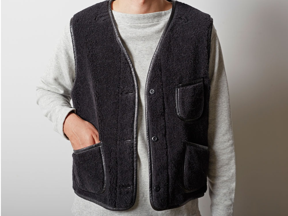 Wool Military Lining Vest M Brown10