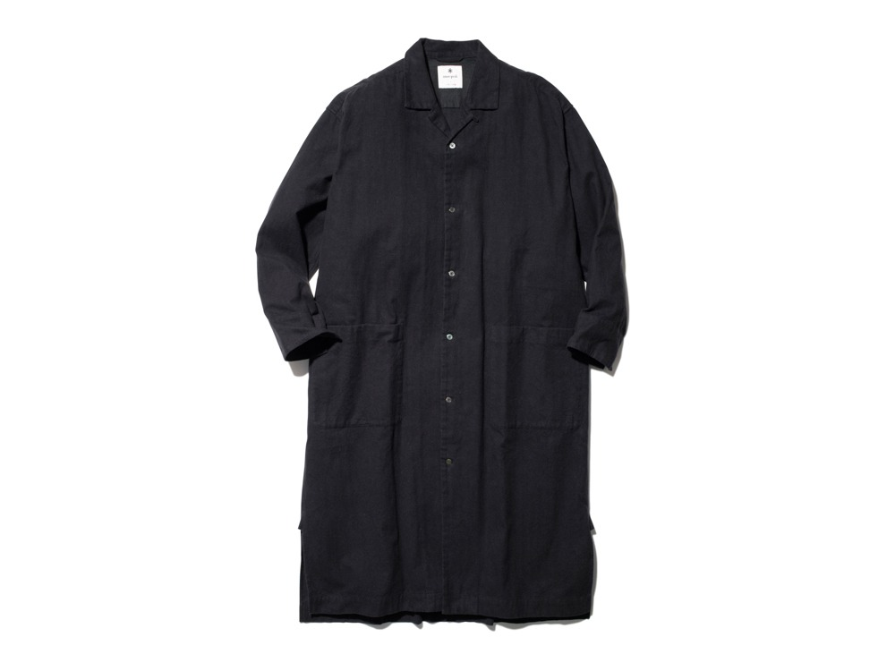 Organic Cotton Suede Long Shirt 1 BK