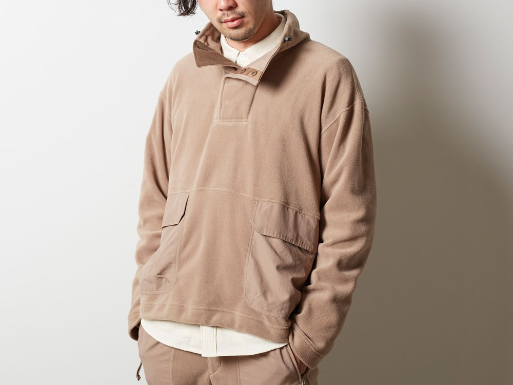 R/Pe Fleece Pullover S Brown4