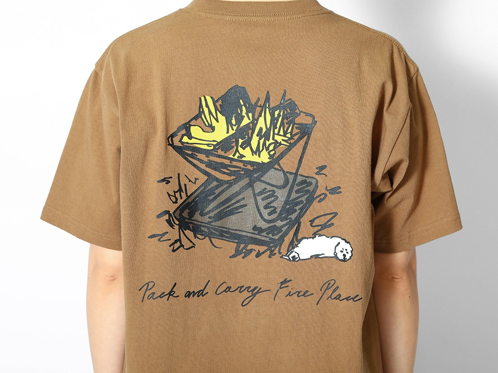 Printed T Pack&Carry Fireplace M WH