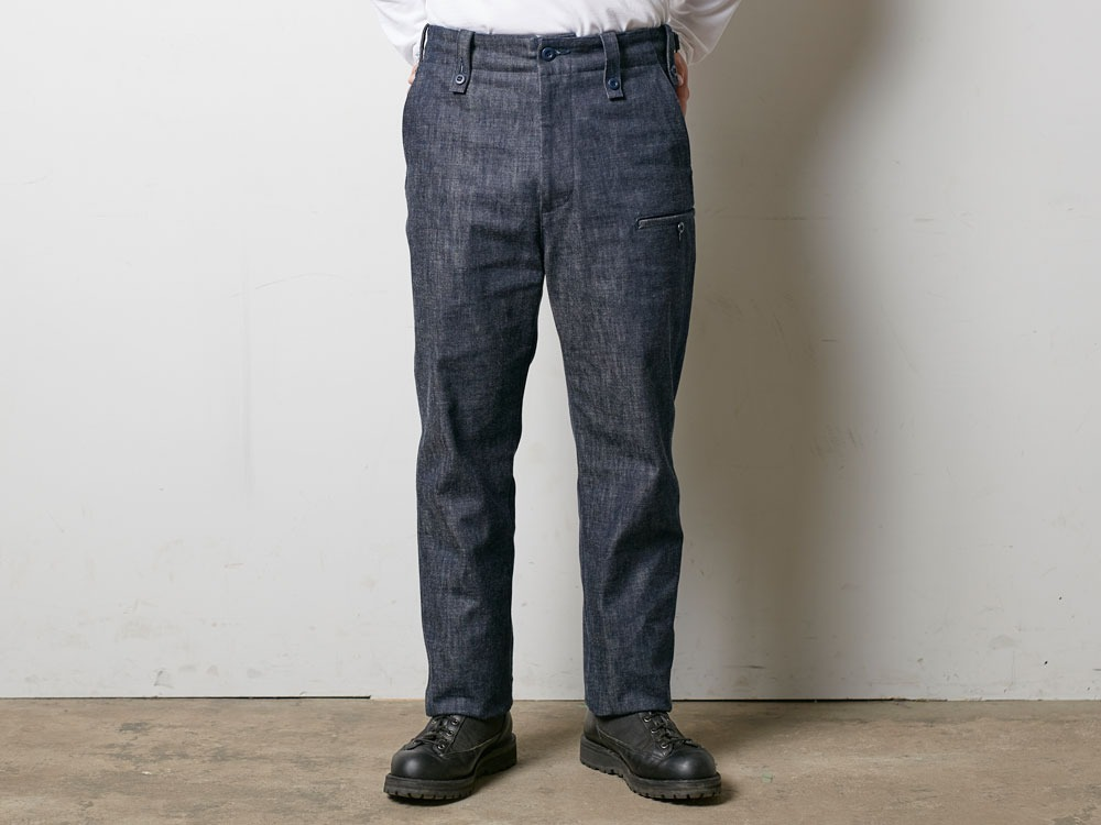 Denim Military Pants S Indigo2