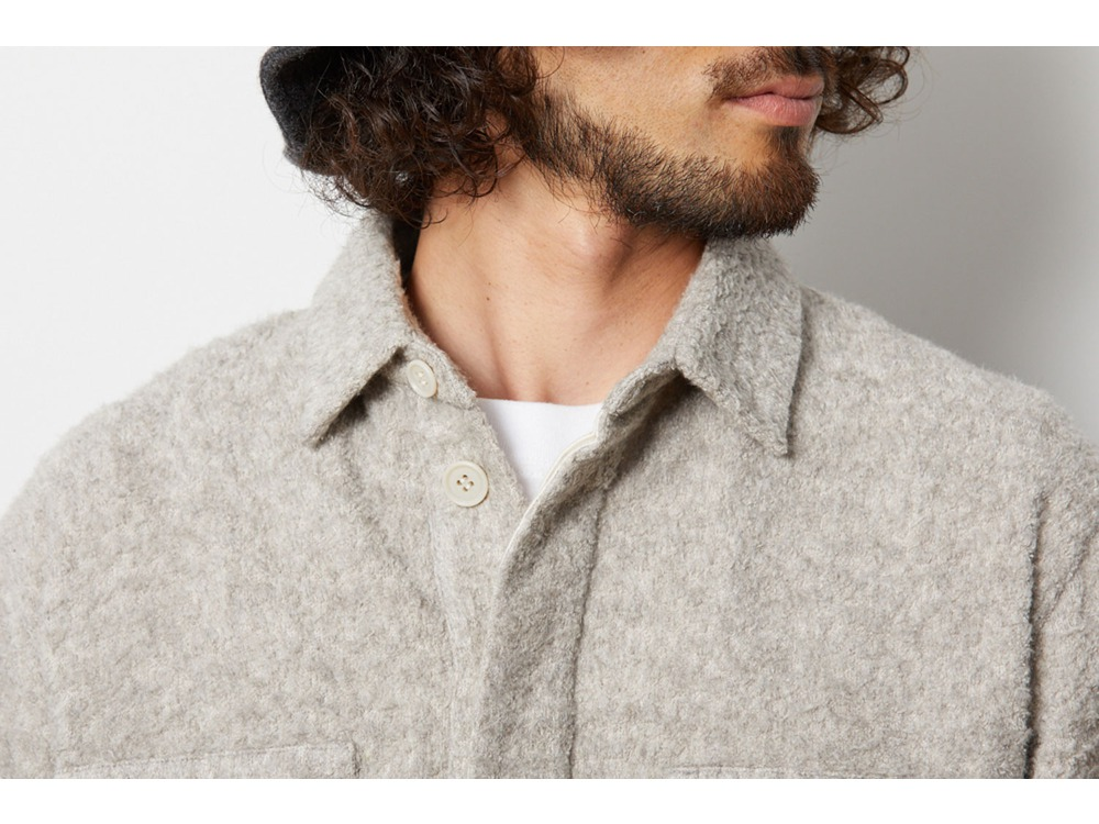 Yak Pile Shirt M Natural