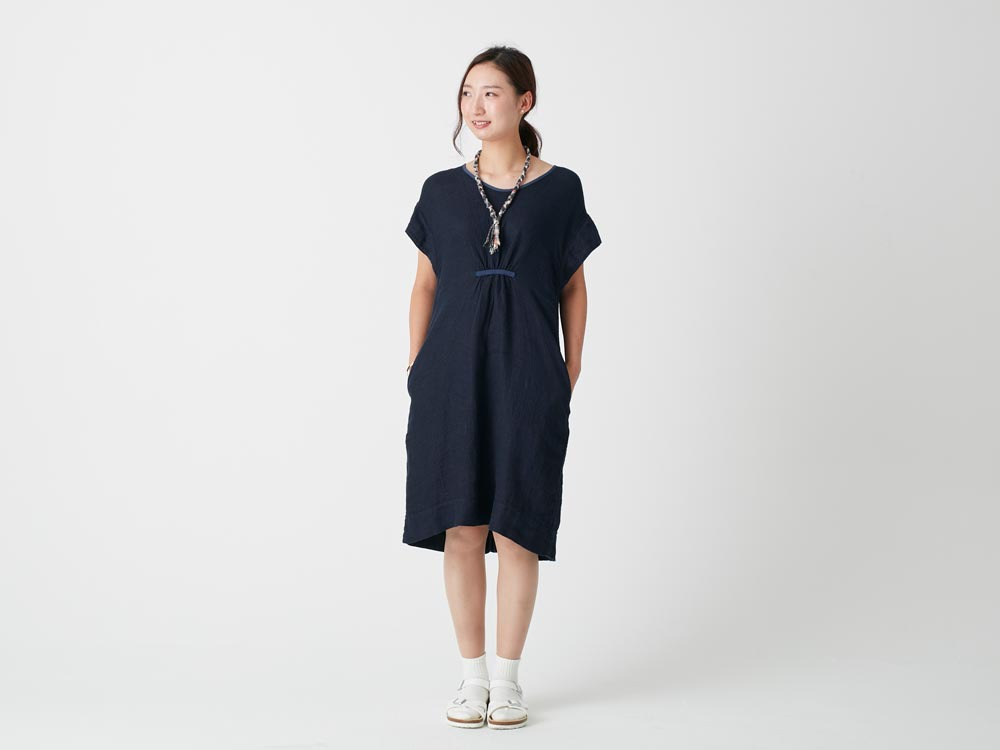 Linen Waffle Dress 3 Natural1