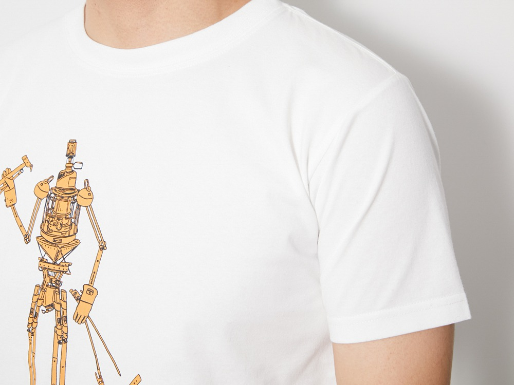 The Camping Machine Tee 1 White