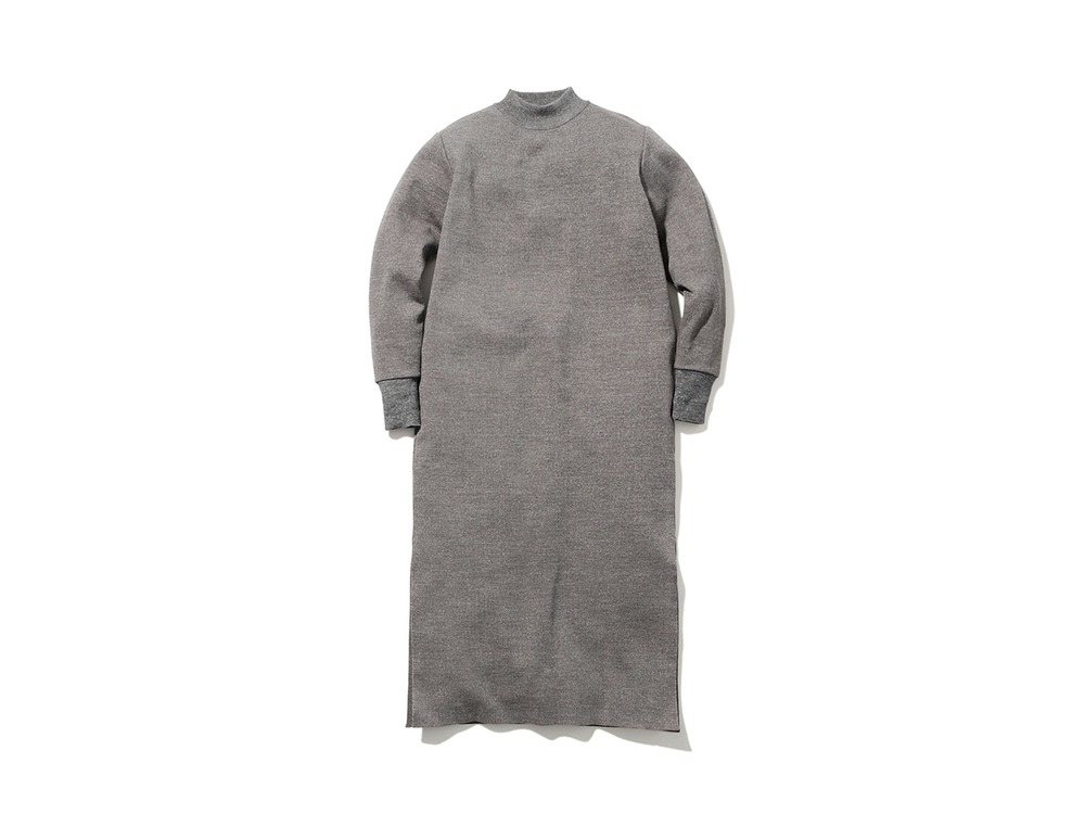 Wool Linen/Pe Dress 2 Grey