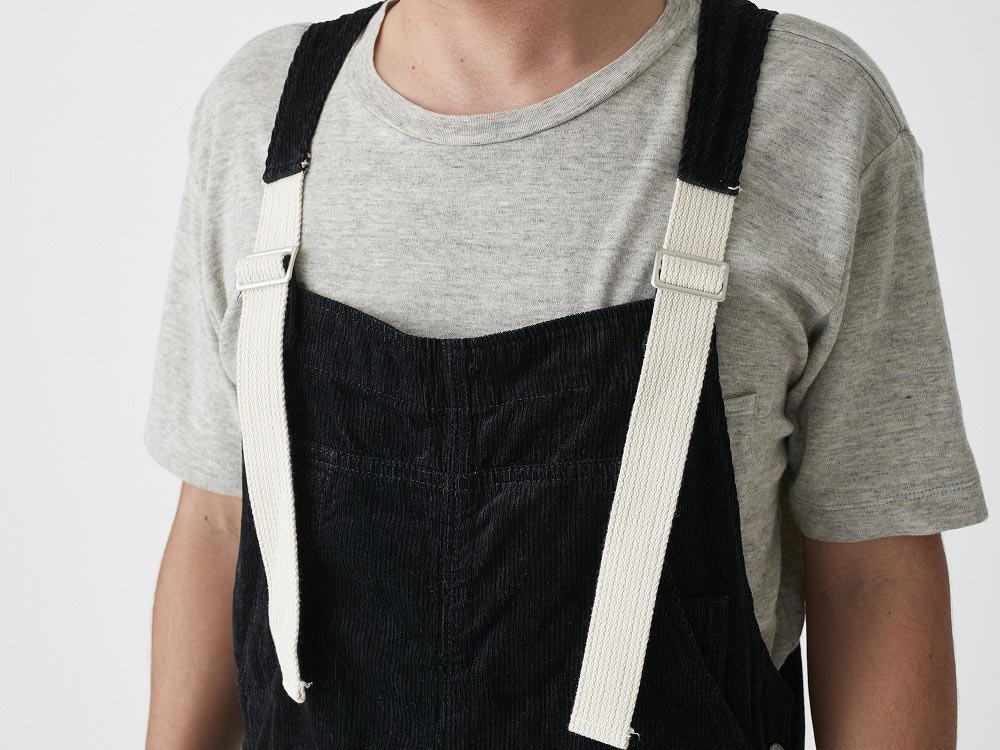 Linen corduroy overalls M Black4