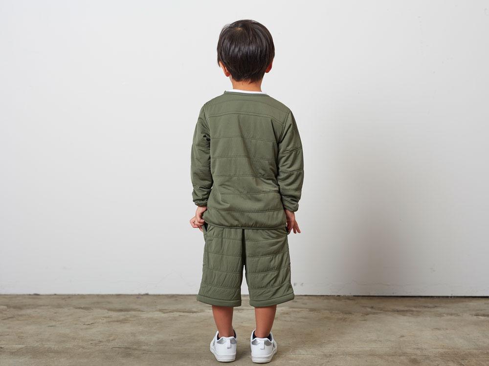 KidsFlexibleInsulatedPullover 3 Olive3