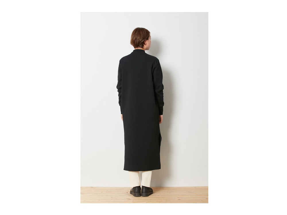 Wool Linen/Pe Dress 1 Black
