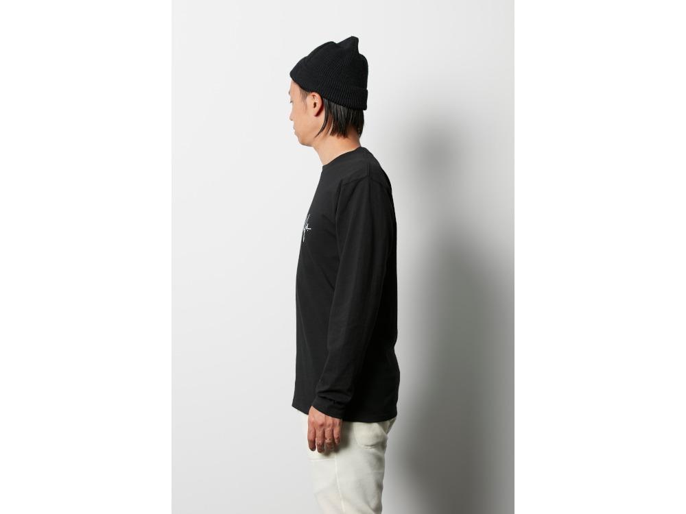 プリントロングTシャツ アートワーク 1 2 ブラック